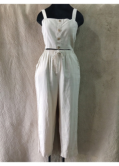 Set đồ áo 2 dây và quần dây rút VNXK