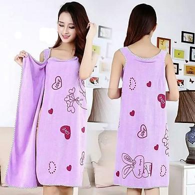 Áo Choàng Khăn Tắm 2 Dây 2 in 1 Siêu Nhanh Khô