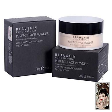 Phấn phủ dạng bột Beauskin Perfect Face Powder Hàn Quốc 30g + Móc khóa