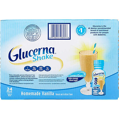 1 Thùng 24 Chai sữa nước Glucerna Shake Homemade Vanilla  237ml