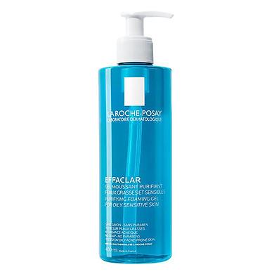 Gel rửa mặt tạo bọt làm sạch & giảm nhờn cho da dầu nhạy cảm La Roche-Posay Effaclar Purifying Foaming Gel (400ml)