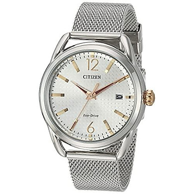 Citizen Women's Drive Japanese-Quartz Watch with Stainless-Steel Strap Silver (FE6081-51A)