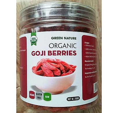 Kỉ tử hữu cơ 200g (Green nature organic goji beries)