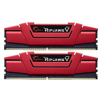 Bộ 2 Thanh RAM PC G.Skill F4-2666C15D-8GVR Ripjaws V 4GB DDR4 2666MHz UDIMM XMP - Hàng Chính Hãng