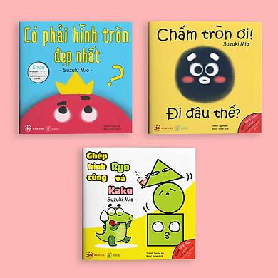 Set 3 cuốn Ehon Hình khối - Cho bé 0-6 tuổi thông minh và sáng tạo