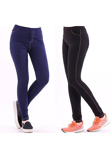 1 Quần legging giả Jeans dáng dài, vải dày đẹp cao cấp, co giãn tốt, phom đẹp tôn dáng