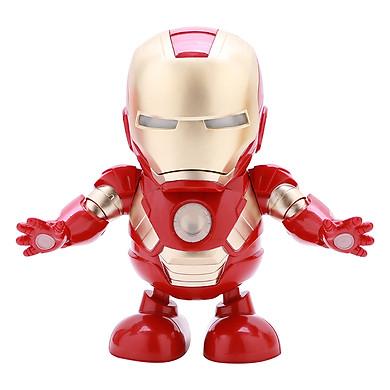Mô Hình Robot Người Sắt Nhảy Có Đèn - Kèm Pin