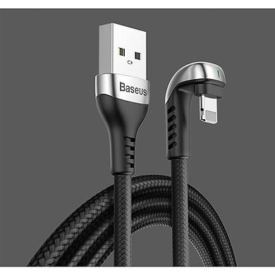 Cáp Lightning sạc và truyền dữ liệu tốc độ cao Baseus U-shaped Lamp Mobile Game cho iPhone/ iPad (2.4A, LED Light Fast Charging Cable) - Hàng Chính Hãng