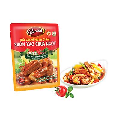 Combo 3 gói Xốt Gia vị hoàn chỉnh Barona - Sườn xào chua ngọt 80gr