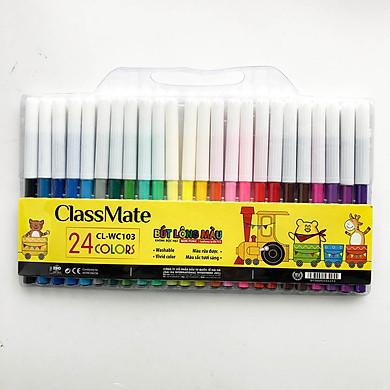 Vỉ Bút lông màu classmate -bút lông màu classmate có 12/18/24 màu (CL-WC101,WC102, WC103)