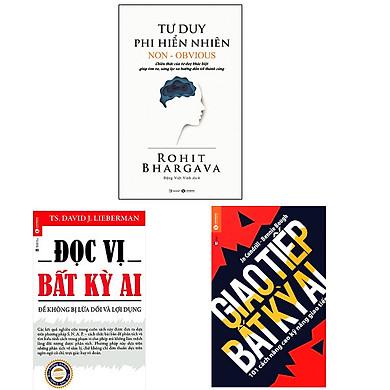 Bộ 3 cuốn sách kỹ năng sống cần thiết để hướng tới thành công: Đọc Vị Bất Kỳ Ai - Giao Tiếp Bất Kỳ Ai - Tư Duy Phi Hiển Nhiên