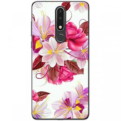 Ốp lưng dành cho Nokia 3.1 Plus Hoa hồng trắng