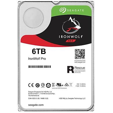 Ổ Cứng HDD NAS Storage Seagate IronWolf Pro 6TB/256MB/3.5 7200RPM - ST6000NE0023 - Hàng Chính Hãng