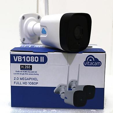 Combo Camera IP Wifi Vitacam VB1080 II - 2.0Mpx Full HD 1080P đàm thoại 2 chiều và Thẻ Nhớ Kingston 32Gb - Hàng Chính Hãng