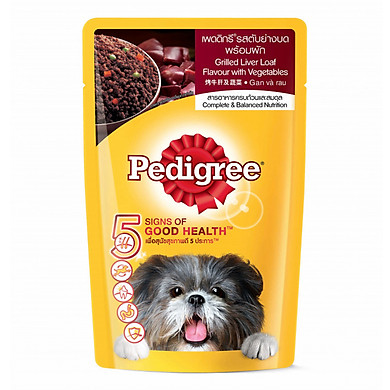 Thức Ăn Cho Chó Pedigree Vị Gan Nướng Và Rau Củ (130g)