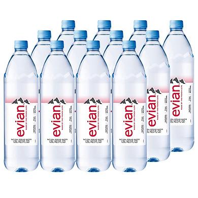Thùng 12 Chai Nước Khoáng Evian Chai Nhựa (1.25L / Chai)
