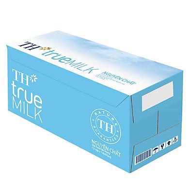 Thùng Sữa Tươi Tiệt Trùng Nguyên Chất TH True Milk (1L x 12 hộp)