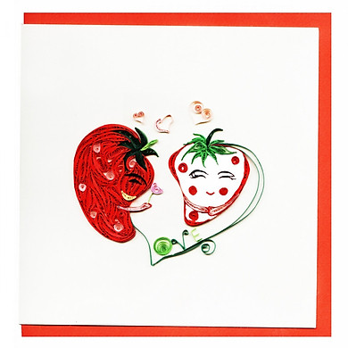 Thiệp Giấy Xoắn GX Love Việt Net VN2XM115059NN (15 x 15 cm)