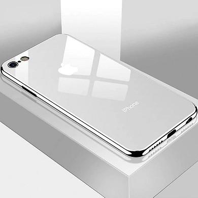 Ốp lưng chống sốc  lưng kính viền màu TPU dẻo dành cho iPhone 6 Plus, iPhone 6S Plus