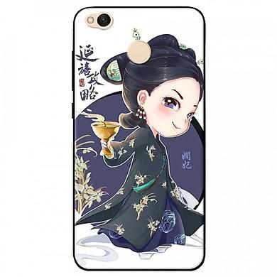 Ốp lưng dành cho Xiaomi Redmi 4X mẫu Cô gái Trung Hoa chibi