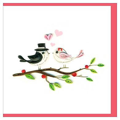 Thiệp Giấy Xoắn GX Love Việt Net VN2XM110152NN (10 x 10 cm)