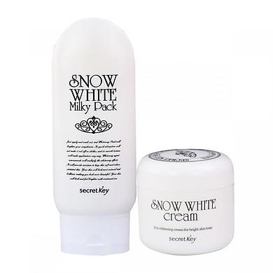 Bộ sản phẩm dưỡng trắng da toàn diện Secret Key (Snow White Cream 50g + Snow White Milky Pack 200g)