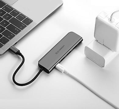Thiết bị mở rộng USB type-C sang HDMI/ Hub USB 3.0 hỗ trợ sạc USB-C Ugreen 50209 - Hàng chính hãng