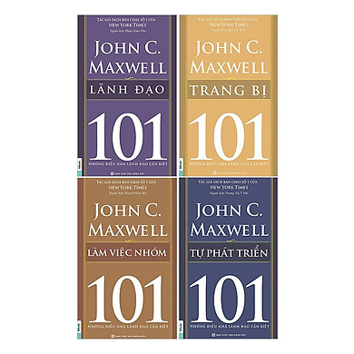 Combo Sách 101 - Những Điều Nhà Lãnh Đạo Cần Biết (4 Cuốn) - Bộ 2(Tặng Kèm Bookmark PL)