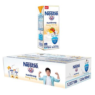 Thùng 48 Hộp Sữa Nước Nestlé Hương Trái Cây (180ml/Hộp)