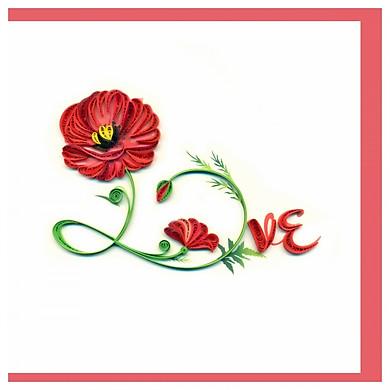 Thiệp Giấy Xoắn GX Love Việt Net VN2XM1150QSE1 (15 x 15 cm)