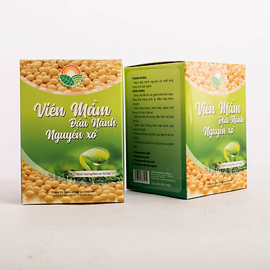 Viên mầm đậu nành nguyên xơ Đông Dương 2 hộp 500g