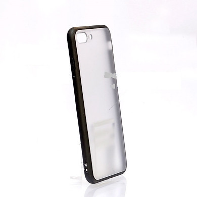Ốp lưng điện thoại TPU viền đen đáy mờ cho iPhoneXS