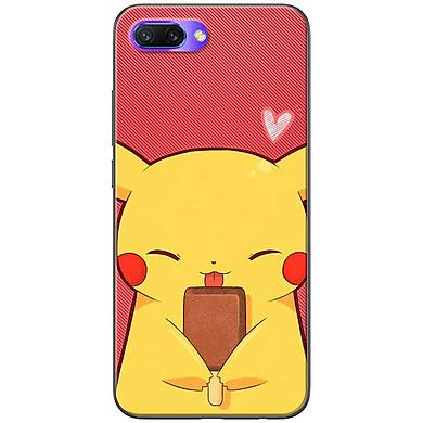 Ốp lưng dành cho  Honor 10  mẫu Pikachu ăn kem