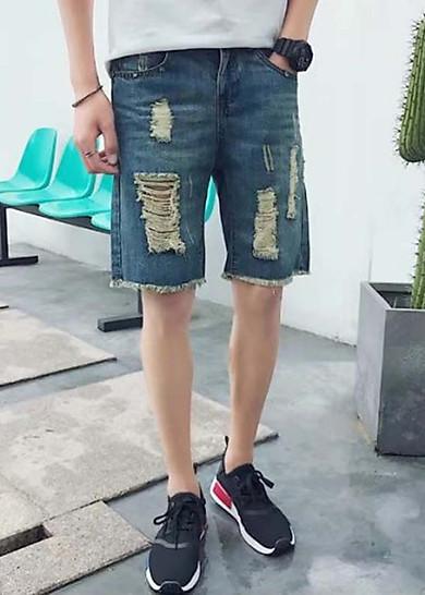 Quần lửng jeans rách Mã: NL0483