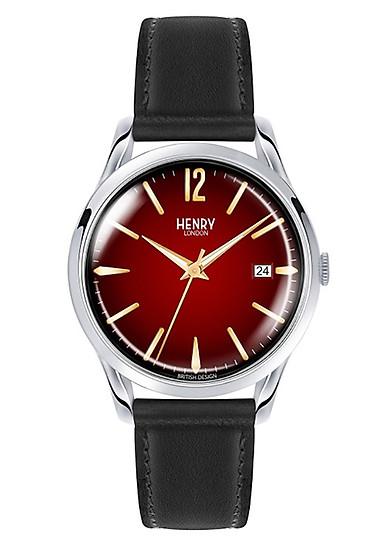 Đồng Hồ Dây Da Bò Henry London HL39-S-0095 Chancery (38.5mm) - Đen + Dịch Vụ Khắc Tên