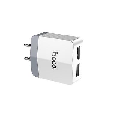 Cốc sạc Hoco C13B hỗ trợ sạc nhanh 3.4A 2 cổng USB Max cho iPhone/iPad/Samsung/Huawei/Xiaomi/Android - Hàng chính hãng
