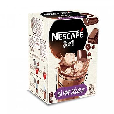 NESCAFÉ 3in1 Cà phê Sôcôla (10 gói x 20g)