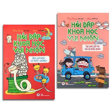 Combo 2 cuốn: Hỏi đáp khoa học vui nhộn (Ông già Noel có thật không? + Tại sao lốp xe chỉ có màu đen?)