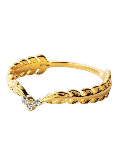 Nhẫn bạc xi vàng J4971