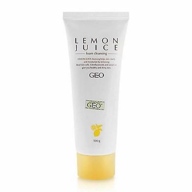 Bọt Rửa Mặt Chanh Lemon Juice Foam Cleansing Geo_Py52 (100g)