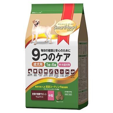 Đồ Ăn Chó Trưởng Thành Giống Chó Vừa Và Lớn Hương Vị Cừu Và Gạo SmartHeart Gold (6Kg)