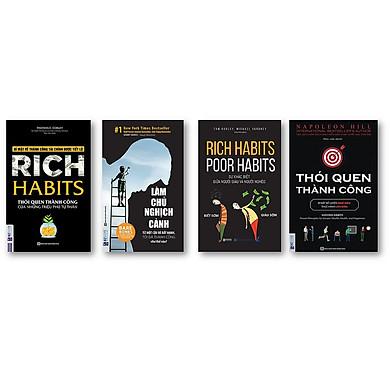 Combo 4 Cuốn Sách Hay Thay Đổi Thói Quen Để Trở Nên Giàu Có(tặng bookmark kim loại)