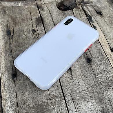 Ốp lưng chống sốc dành cho iPhone XS Max nút bấm màu đỏ - Màu trắng