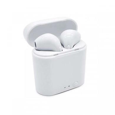 Tai nghe 2 tai Bluetooth không dây I7S cho IPhone, Android + Tặng móc dán siêu dính