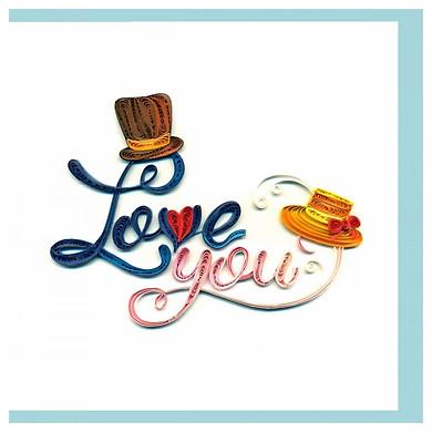 Thiệp Giấy Xoắn GX Love Việt Net VN2XM1150OIE1 (15 x 15 cm)