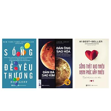 Combo 3 cuốn sống yêu thương: Sống Thật Bao Nhiêu , Hạnh Phúc Bấy Nhiêu + Sống Để Yêu Thương + Đàn ông sao hỏa, đàn bà sao KimTV