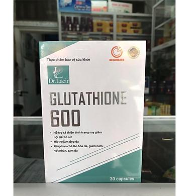 VIÊN UỐNG MỜ NÁM, TÀN NHANG, ĐỒI MỒI, TRẮNG DA GLUTATHIONE 600 DR. LACIR (hộp 30 viên)