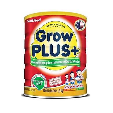 Sữa GrowPLUS+ Đỏ Cho Trẻ Suy Dinh Dưỡng Trên 1 Tuổi - 1.5kg