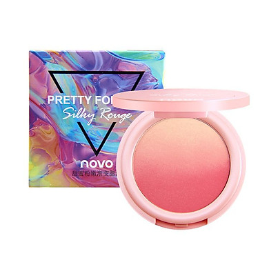 Phấn má hồng Novo Pretty For You Silky Rouge Lâu Trôi