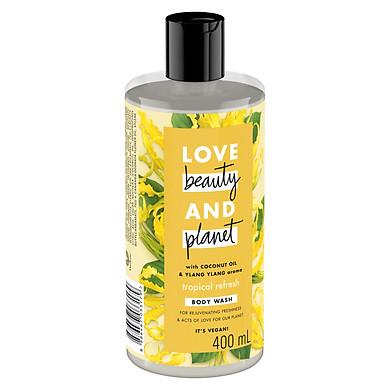 Sữa Tắm Phục Hồi Da Khô  Love Beauty And Planet Tropical Refresh 400ml